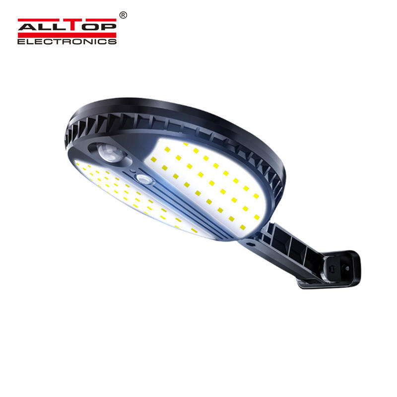ALLTOP Hot selling ABS material 5w outdoor garden lighting solar led wall light with remote controller
