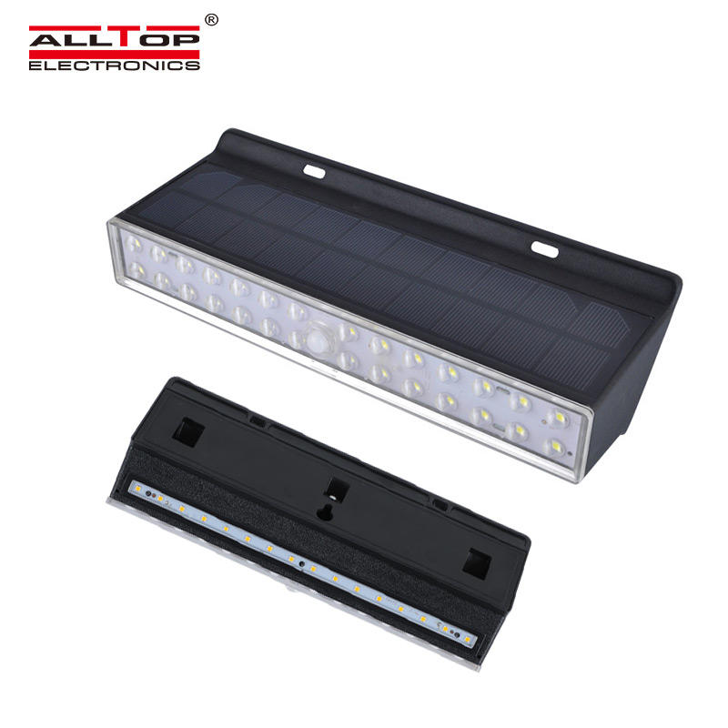 ALLTOP Factory New Products Waterproof Pathway PIR Motion Sensor Light Outdoor Emergency Security Garden Solar Wall Light