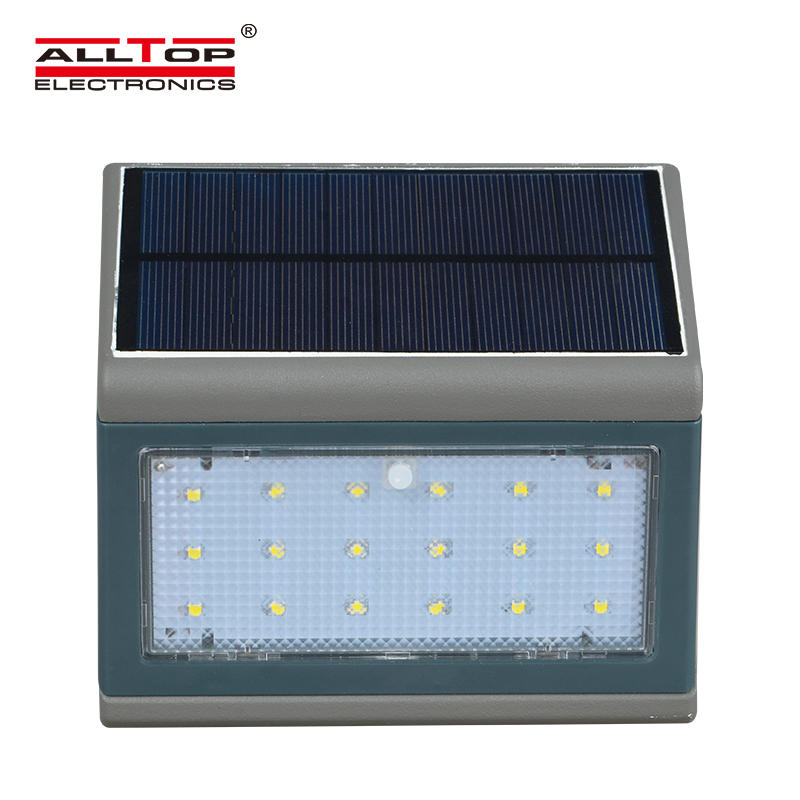 ALLTOP High quality Bright Outdoor Waterproof 3W 5W Solar led wall lamp