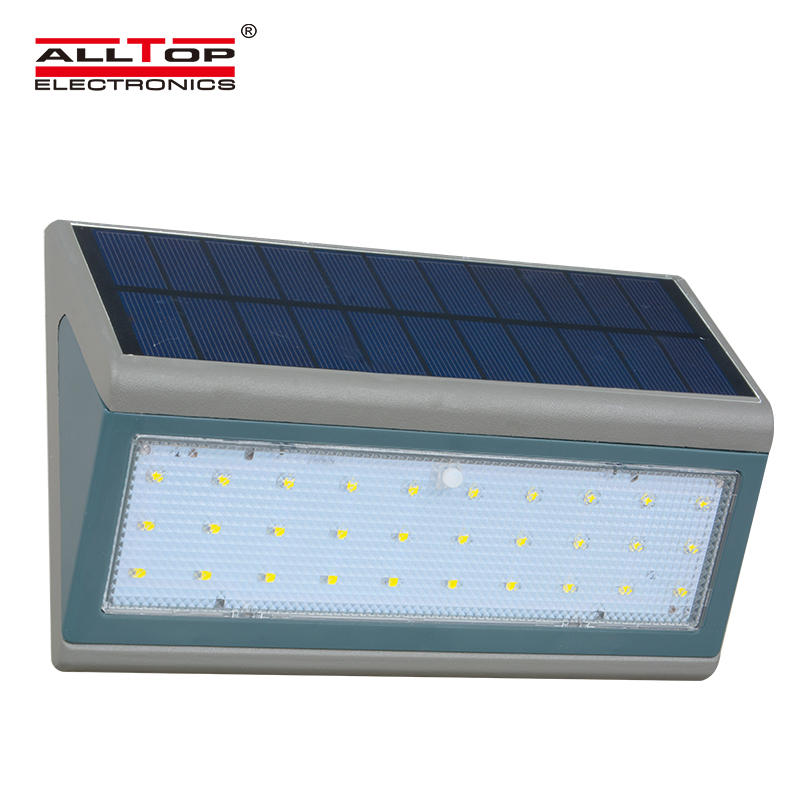 ALLTOP Hot sale ip65 outdoor waterproof PIR Sensor 3w 5w solar led wall light