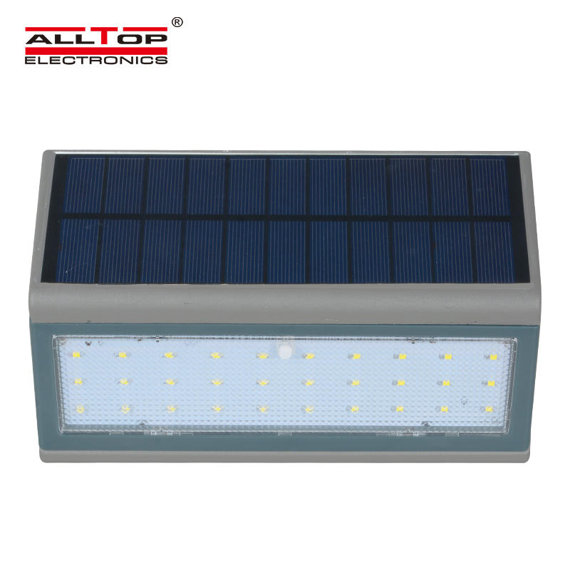 ALLTOP Hot sale high quality surface mounted IP65 3w 5w outdoor LED solar wall light