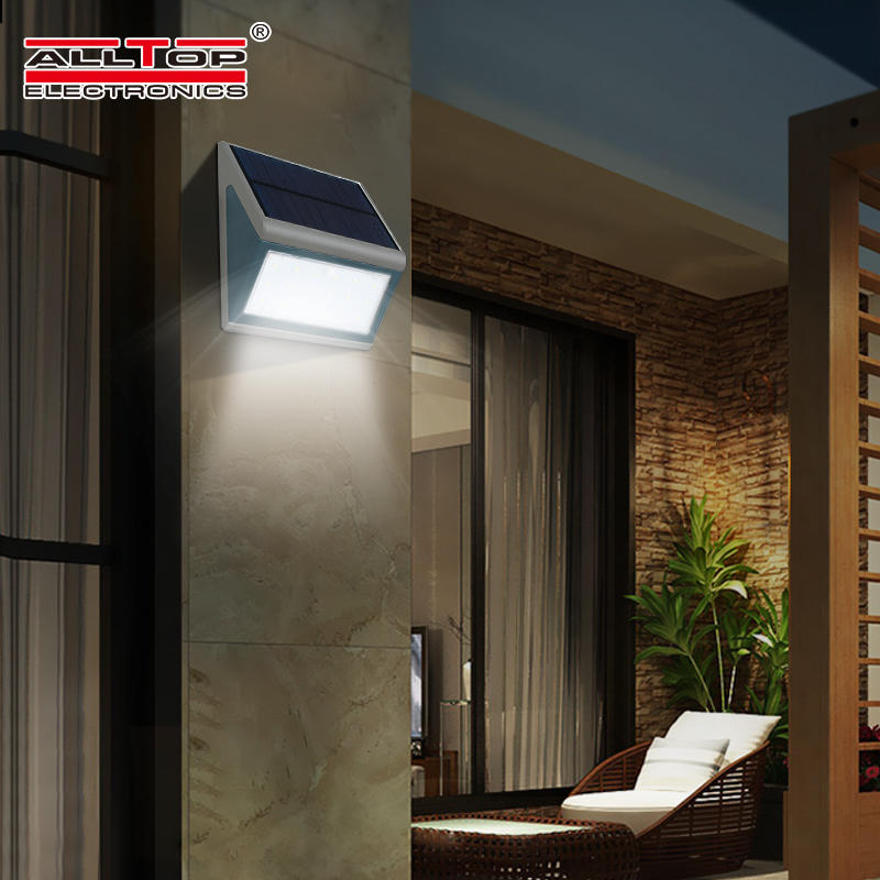 ALLTOP High quality outdoor waterproof IP65 solar sensor 3watt 5watt led wall lamp