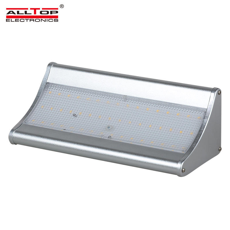 ALLTOP High quality outdoor waterproof sensor 6w 8w solar ip65 led wall lamp