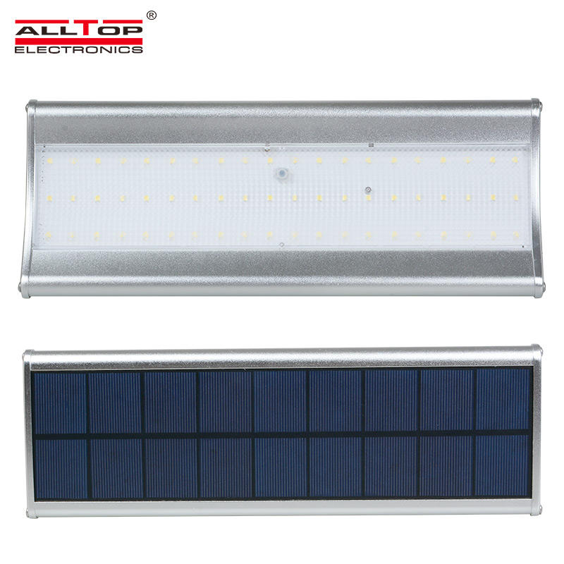 ALLTOP Custom designs industrial IP65 outdoor 6w 8w solar led wall light