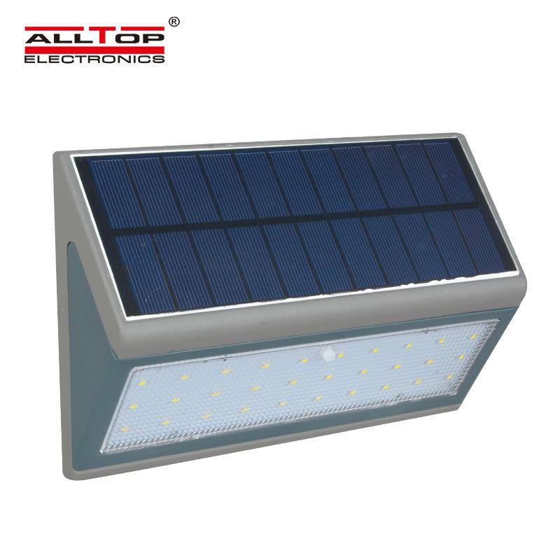 ALLTOP 3 years warranty solar sensor outdoor IP65 3watt 5watt led solar wall light