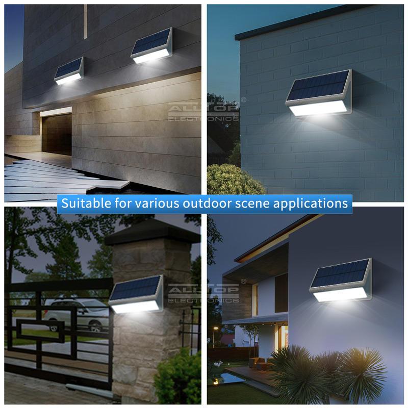 ALLTOP Hot sale ip65 outdoor waterproof PIR Sensor 3w 5w solar led wall light