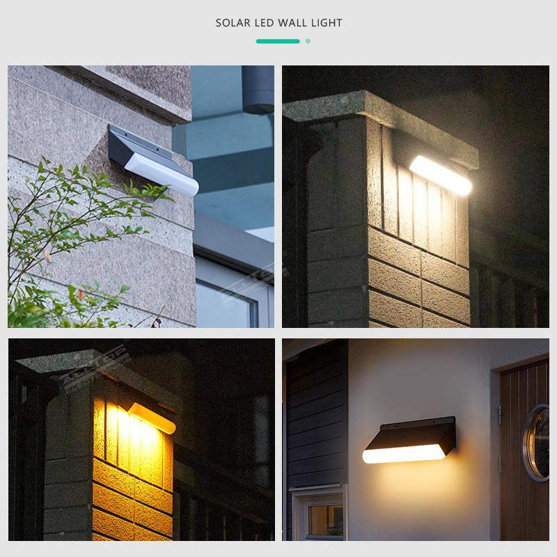 ALLTOP IP67 waterproof home led solar light PIR motion sensor outdoor solar security wall light