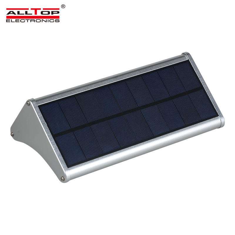 High quality waterproof Aluminum ip65 6w 8w solar led outdoor wall light