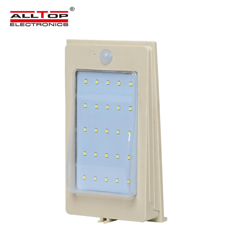 ALLTOP 3w wall mounted motion sensor solar mini led outdoor wall light