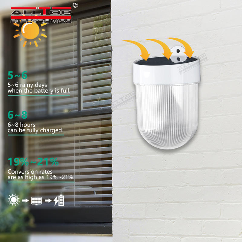 ALLTOP Solar panel 3w intergrated waterproof ip65 outdoor all in one solar led wall light price