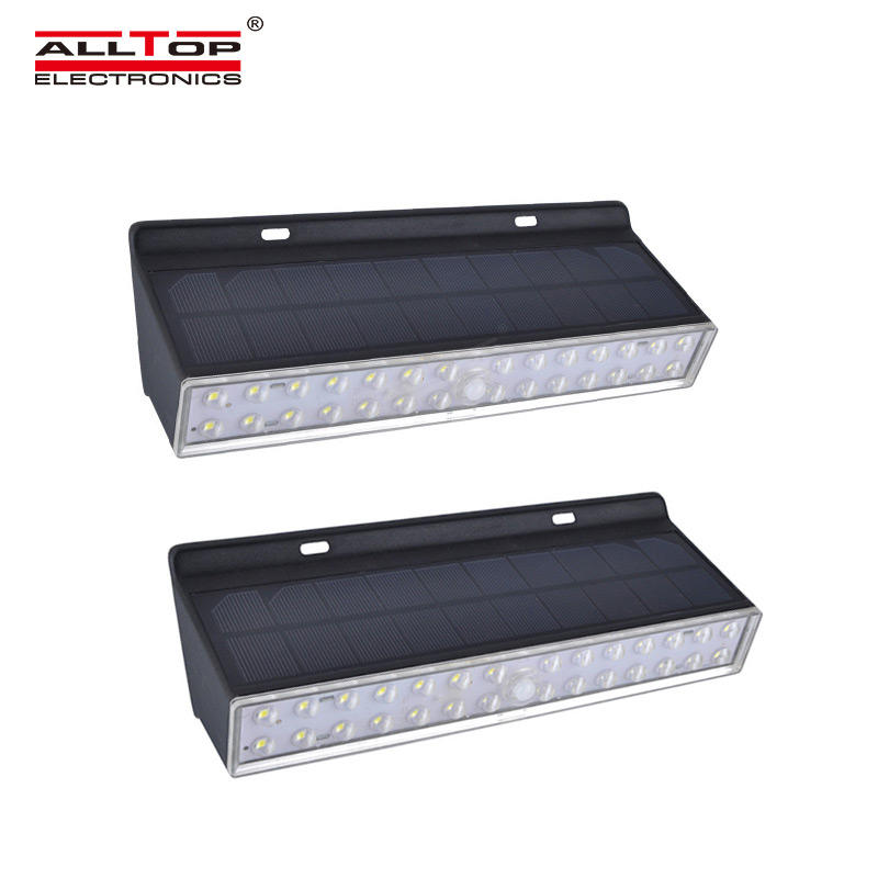 ALLTOP High quality Outdoor Waterproof IP65 LED Solar sensor Wall Light for Garage Patio Garden Driveway Yard