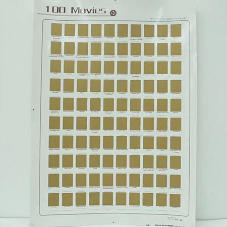 product-100 Movies Scratch Off Poster ,Top Movie Bucket List Poster-Dezheng-img-2