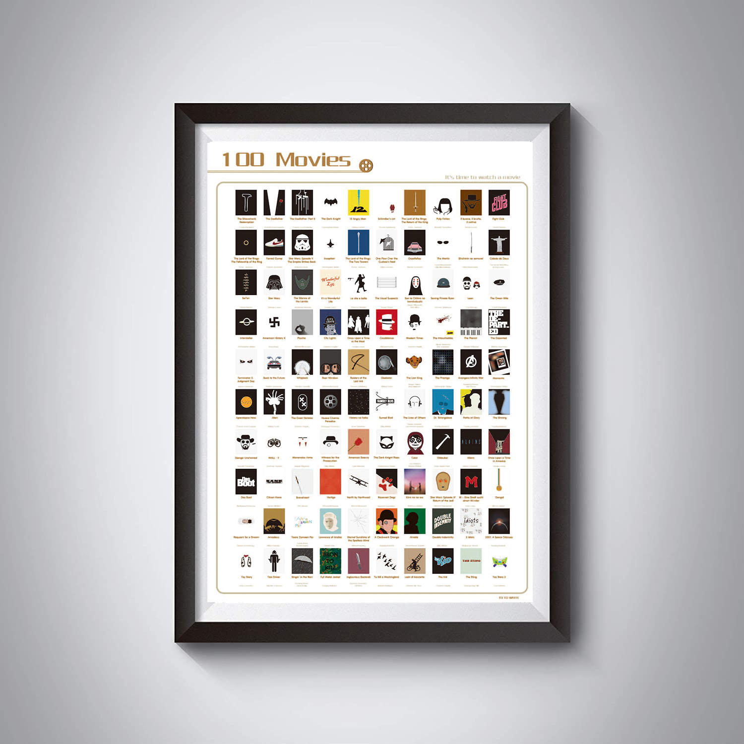 product-Dezheng-100 Movies Scratch Off Poster ,Top Movie Bucket List Poster-img-1