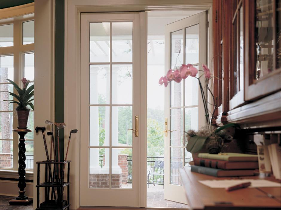 PVC French hurricane proofFactory Price swingBalcony Entrance Door
