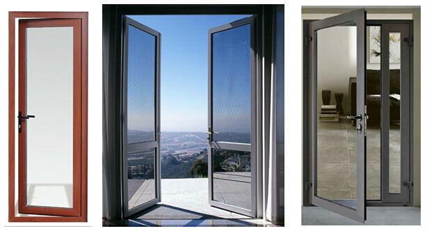 Guangzhou Aluminum Window and Door Tempered Glazing Interior Swing Patio Door for Sales