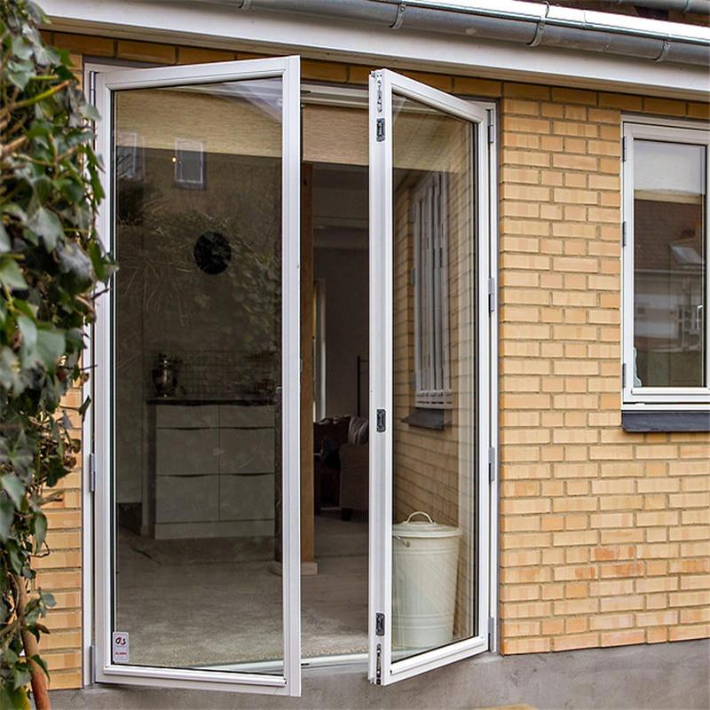 Security Powder Coating Aluminum Single Entrance Swing Glass Door