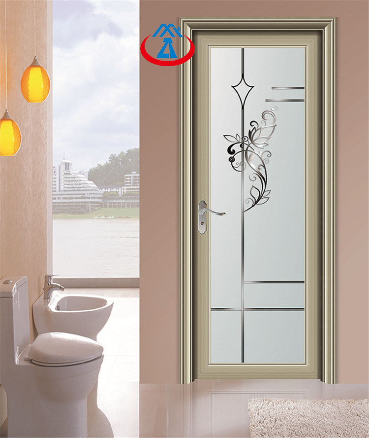 AluminiumTempered GlassSwing Door Toilet For House or Villa