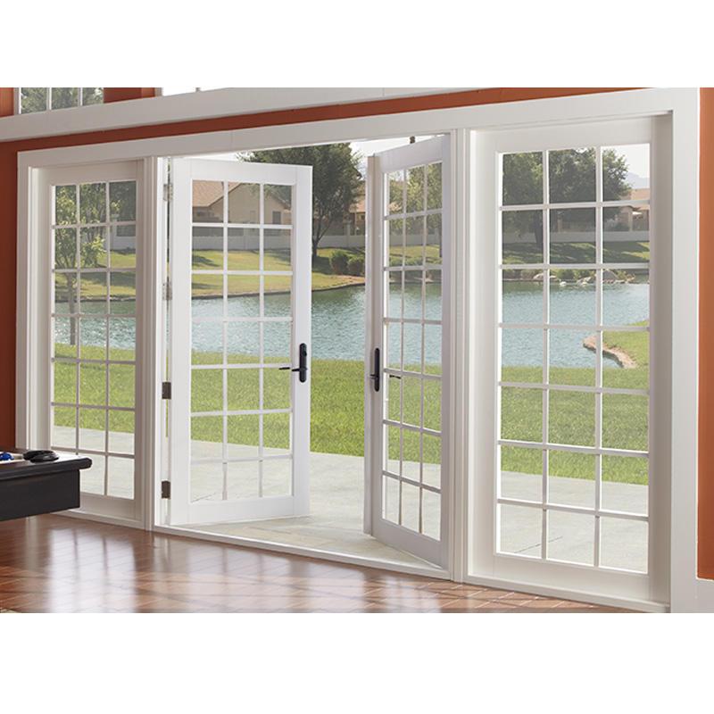 1600*2100mm Double Swing Glass Aluminum Swing Door For Commercial/Industrial