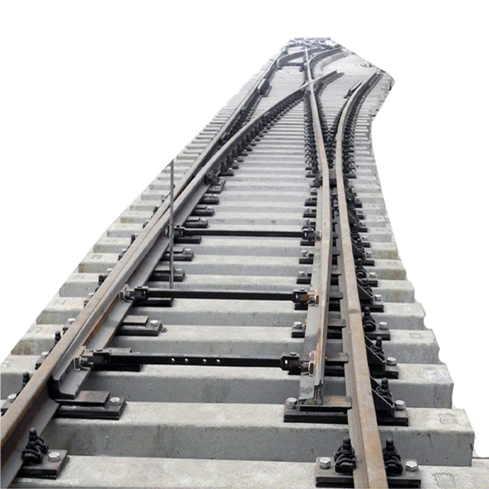 Railroad rail Symmetric switch for subway line