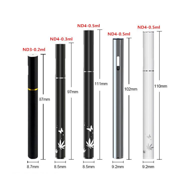 Vaporizer cartridge CBD oil vape pen cbd e cig ND4 for thick oil OEM welcomed