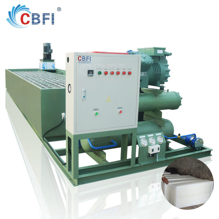 commercial big snow block ice machine for fish,meat cooling