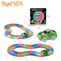 28pcs/80pcs Plastic LED Car Magical Glow In The Dark Track Set For Sale