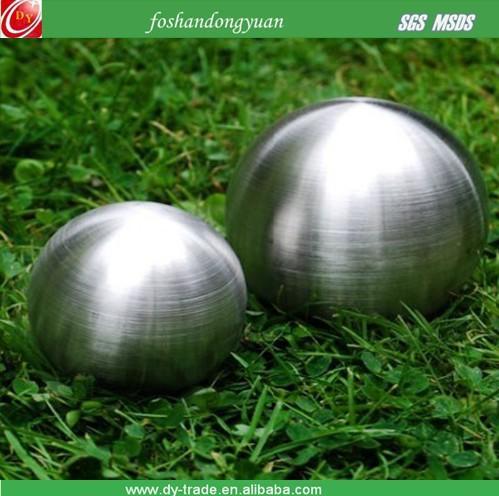 brushed garden stainless steel ball/sphere
