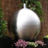 10 inchGarden Stainless Sphere Brushed