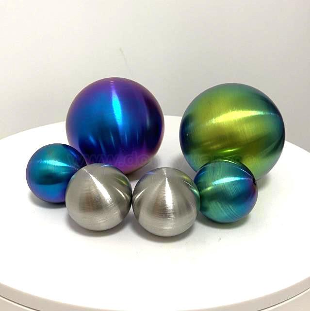 120mmInox Steel ColorBall BrushedSurface