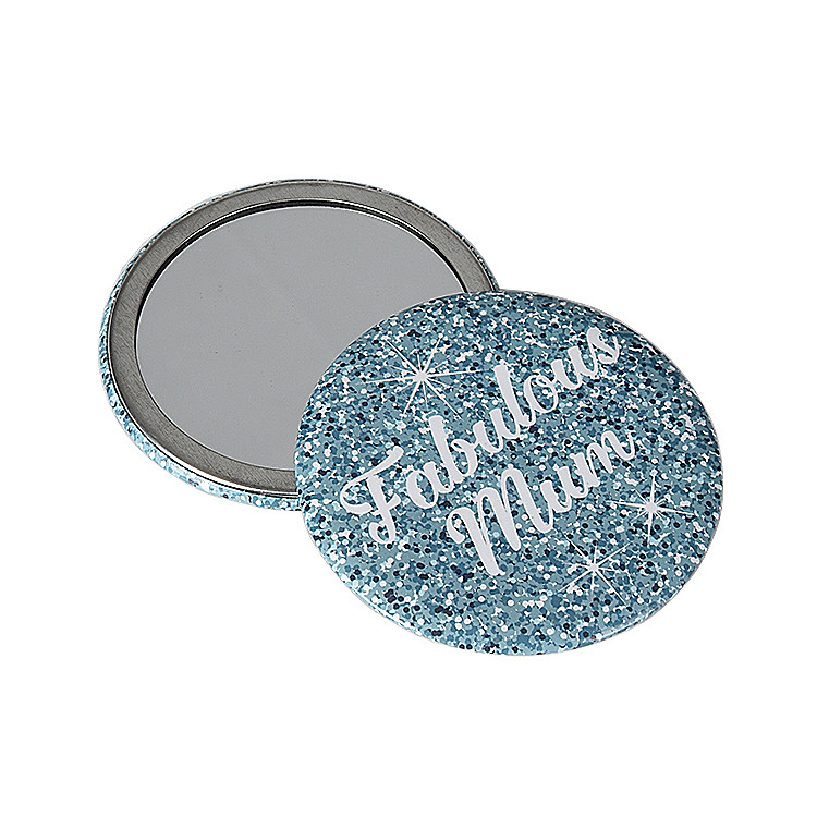 Promotional Customized Gifts Decorative Metal Corner Protection Pocket Mini Makeup Mirror with Logo