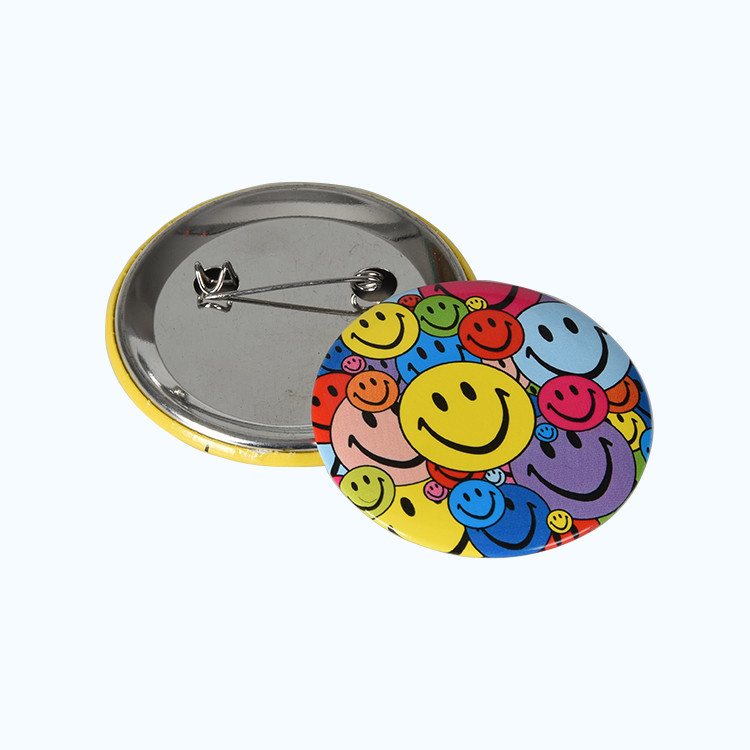 Custom Cheap Promotional Blank Buttons Pin Badge with Safety Pin