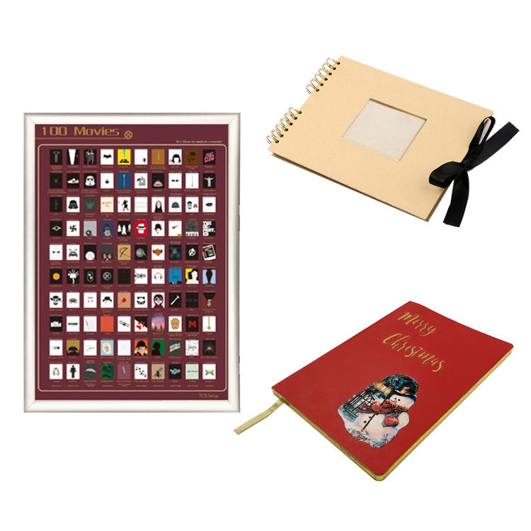 15% OFF Scratch off poster & Kraft photo album & PU Notebook Free combination 3 Products