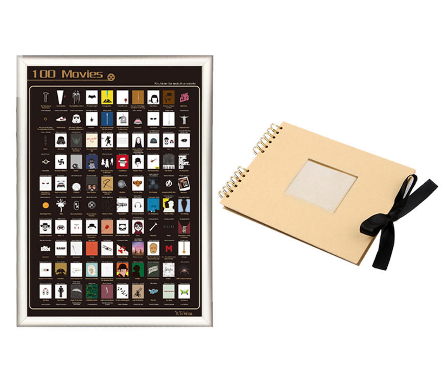 15% OFF Scratch off poster & Kraft photo album Free combination 2 Products
