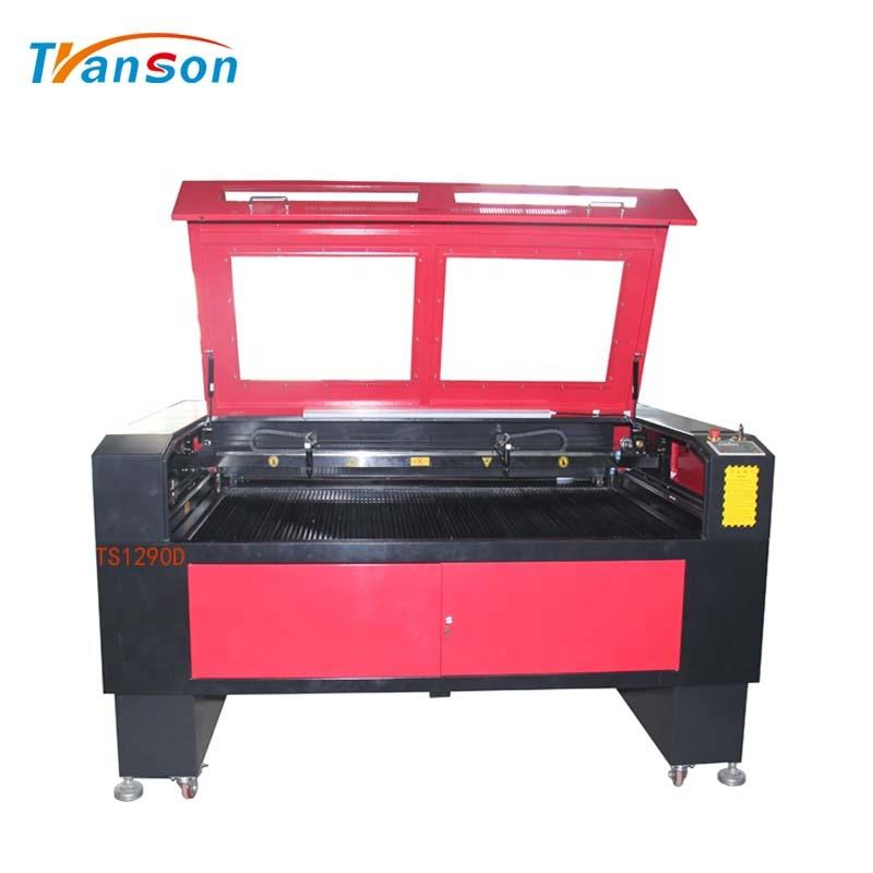 1290D Double Head CO2 Laser Cutting Engraving Machine For Acrylic Leather Paper Wood