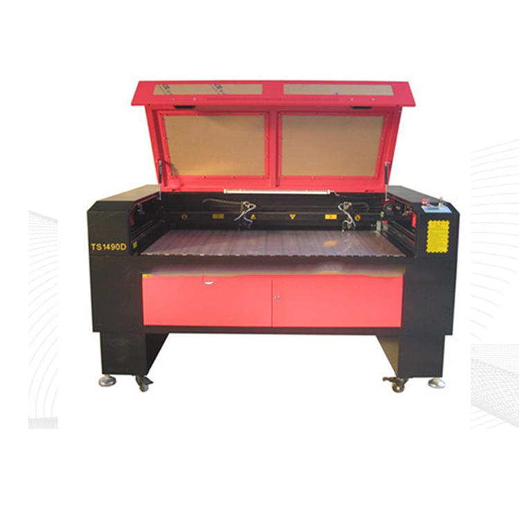 High precision double heads laser cutting machine for Acrylic/Wood/MDF TS1490D