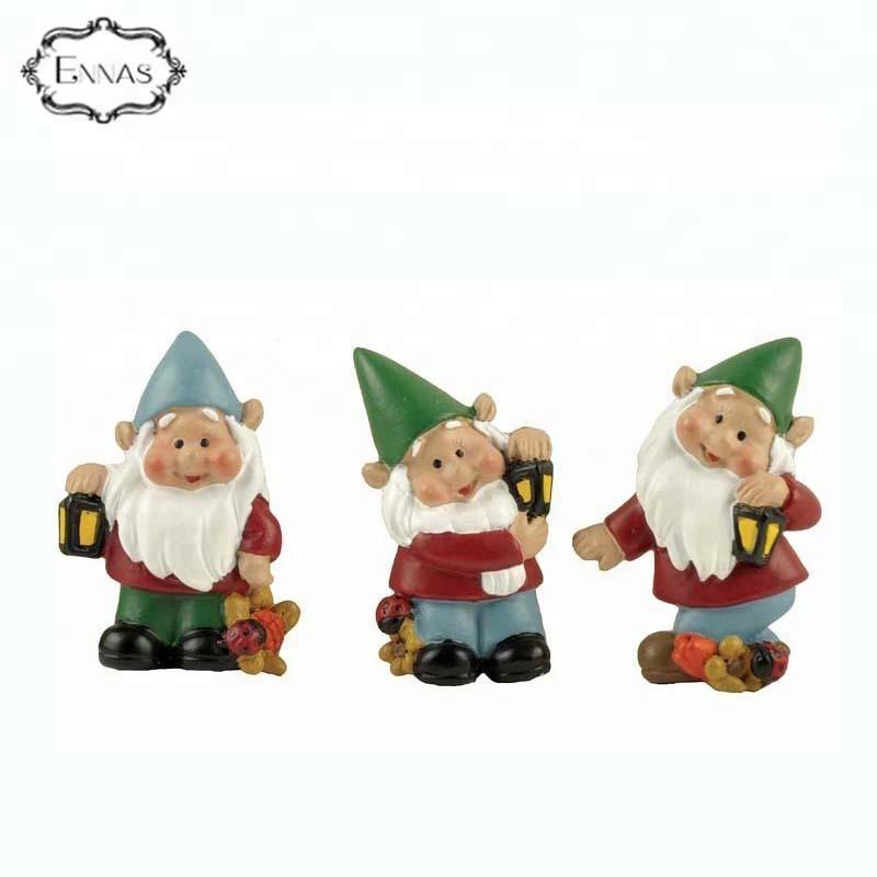 S/3 3d Garden Gnome Fridge Magnet Custom 3d Fridge Magnets