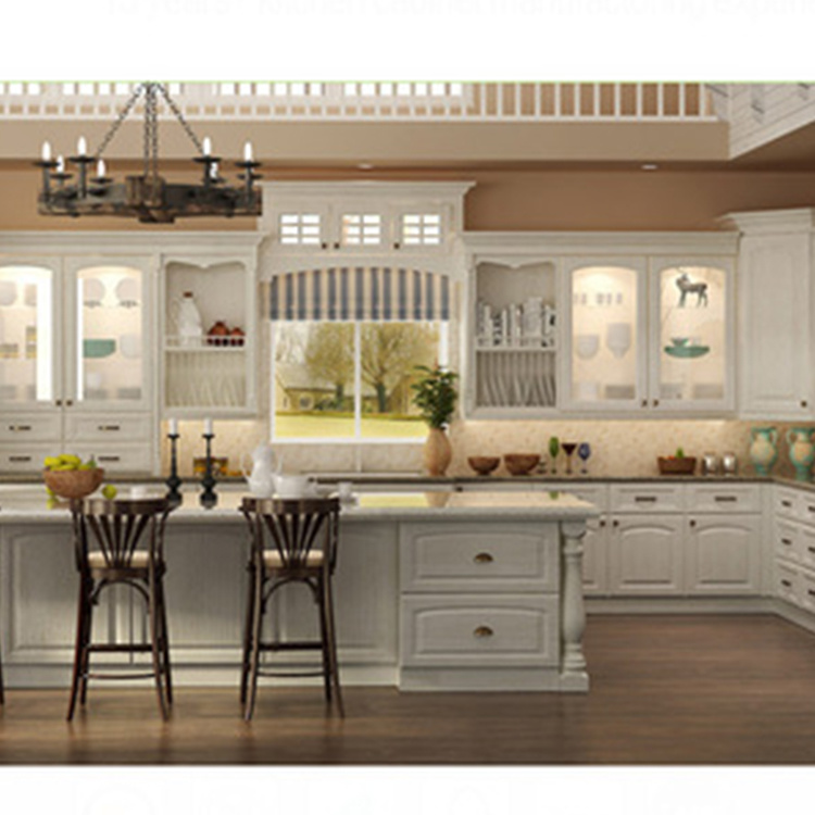 2020 New high end modelkitchen cabinets wood modular furniture
