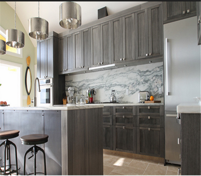 Simple Japan Solid Wood Modern Waterproof Kitchen Cabinets Cupboard