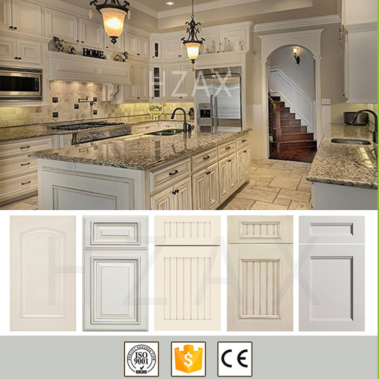 China High Quality Custom French New Style White Painted Shaker Solid Wood Kitchen Cabinets