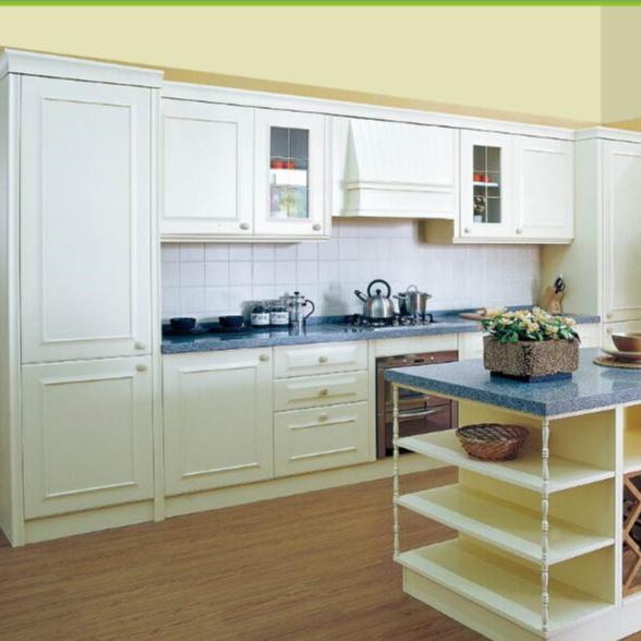 Italian kitchen furniture set white solid wood kitchen cabinets
