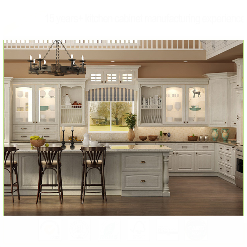 2020 New model Italian thermofoil pvc kitchen cabinets imported from China
