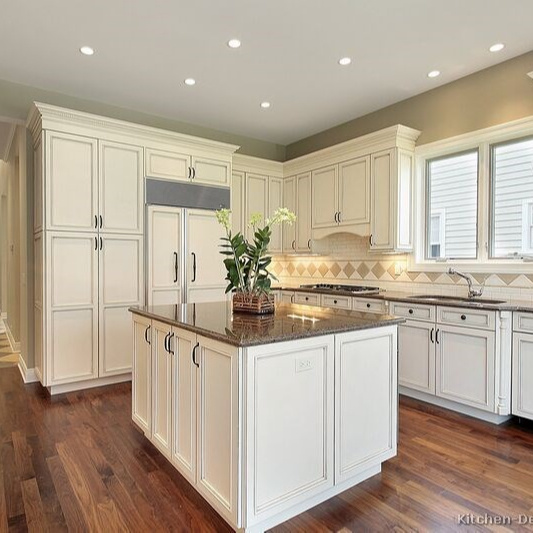 American style cheap modern wood kitchen cabinet simple designs