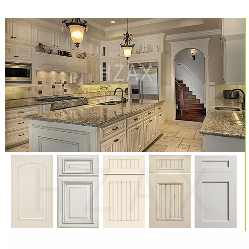 2021 New Style White Painted Shaker Solid Wood Kitchen Cabinets from China