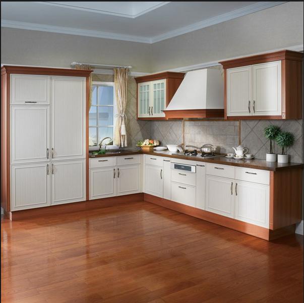 Kitchen Organization And Storage Cabinet Designs Modern Flat Pack Commercial PVC Kitchen Cabinet Door
