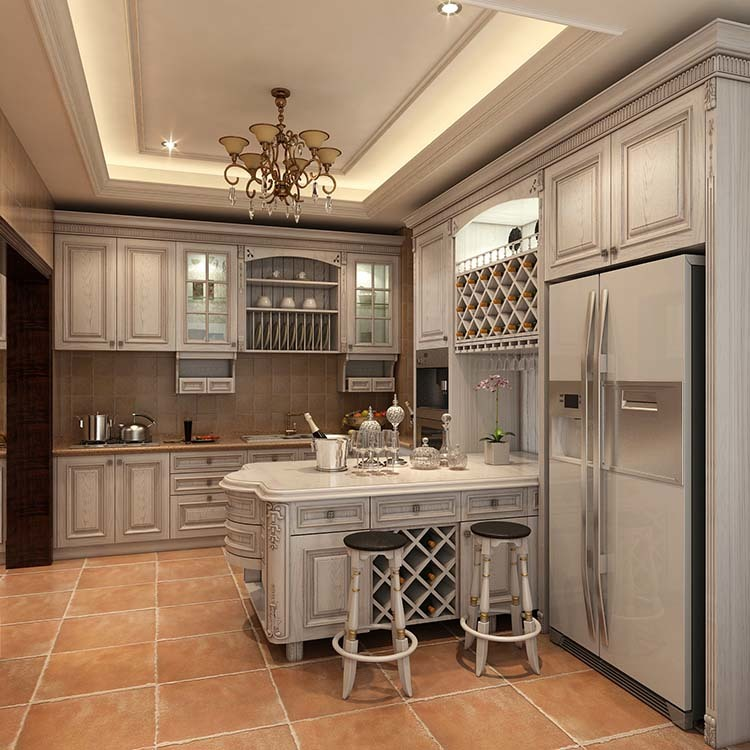 Kitchen Latest High Gloss Wood Solid Wood Base Cabinets Modern Graphic Design Handle & Knob Hotel Toe Kick 1 YEAR Hinge