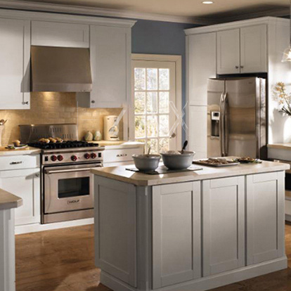 Hot Sell WhiteSolid Wood Kitchen Cabinet Furniture