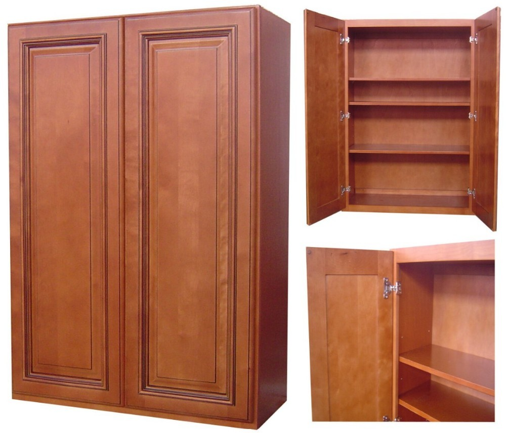 Factory Wholesale Solid Wood Contemporary Kitchen Cabinet