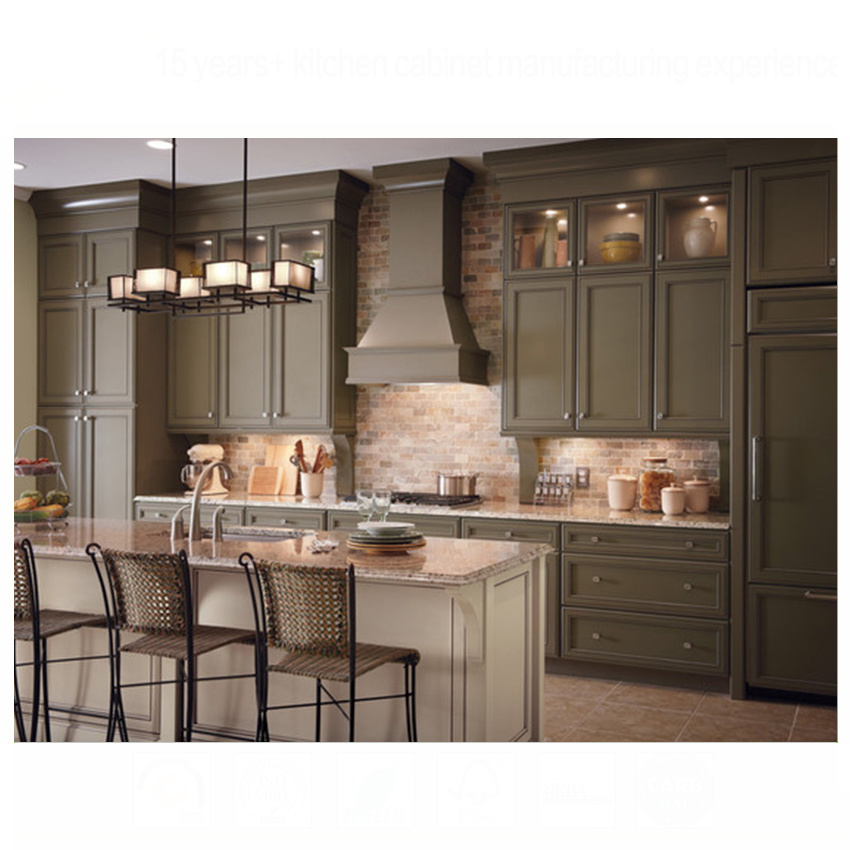 High Quality Maple Wood Painted Kitchen Cabinet from China Factory