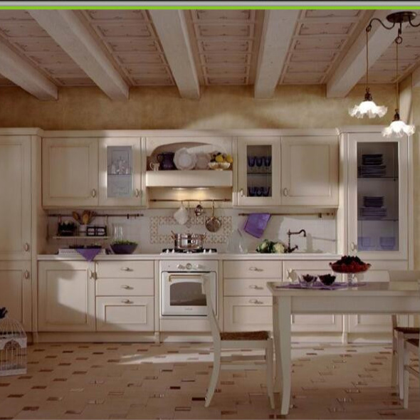 Luxury shaker style modular kitchen designs hanging cabinets Building Material for Projects