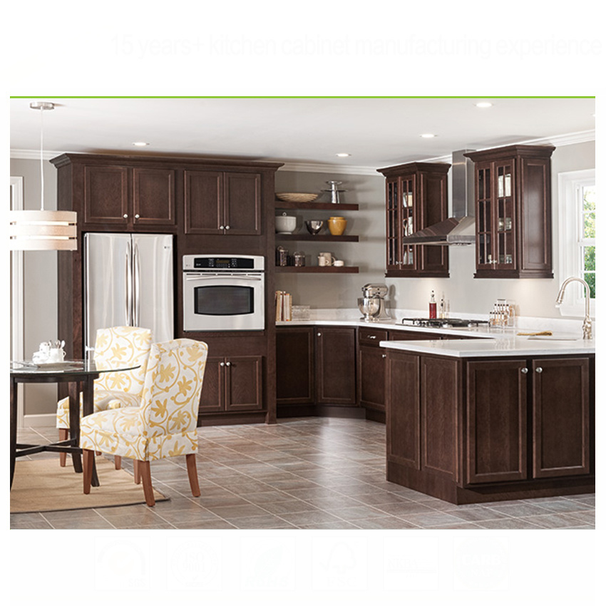Imported wood carved door solid raised panel kitchen cabinet from China